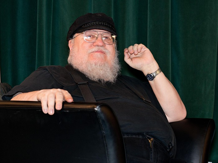SANTA FE, NM - FEBRUARY 23:  Writer George R. R. Martin participates in a Q & A session following SundanceTVs Hap & Leonard Screening at the Jean Cocteau Theater on February 23, 2016 in Santa Fe, New Mexico.  (Photo by Steve Snowden/Getty Images for AMC Networks)