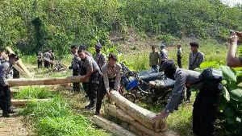 Ratusan Kayu Jati Ditinggalkan Pelaku Ilegal Logging