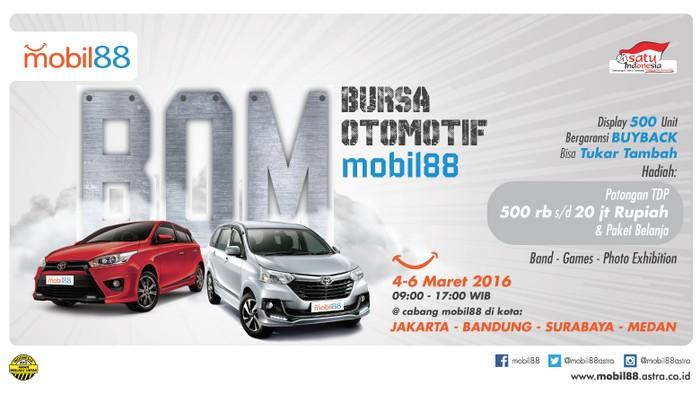 Beli Mobil Di Bursa Otomotif Mobil88 Diskon Hingga Rp 20 Juta