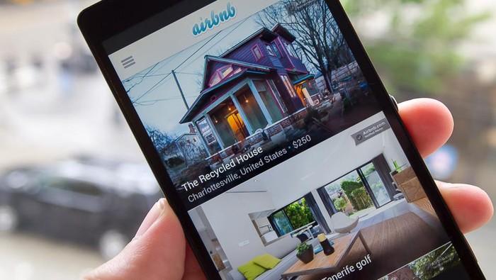 Aplikasi Airbnb. Foto: Istimewa