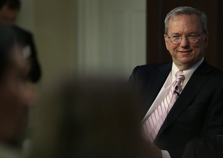 WASHINGTON, DC - MARCH 18: Google Executive Chairman Eric Schmidt speaks at the American Enterprise Institute March 18, 2015 in Washington, DC. Schmidt took part in a discussion on