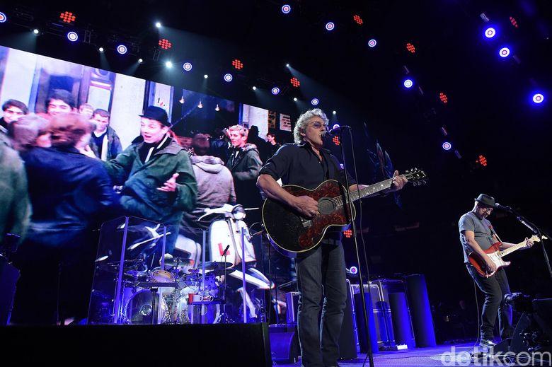 The Who melakukan tur dalam rangka ulang tahunnya ke-50. Theo Wargo/Getty Images/detikFoto.