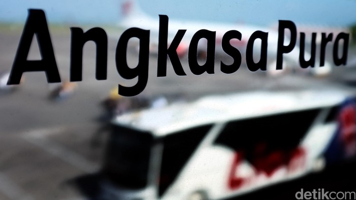 Logo Angkasa Pura airport Bali. dikhy sasra/ilustrasi/detikfoto