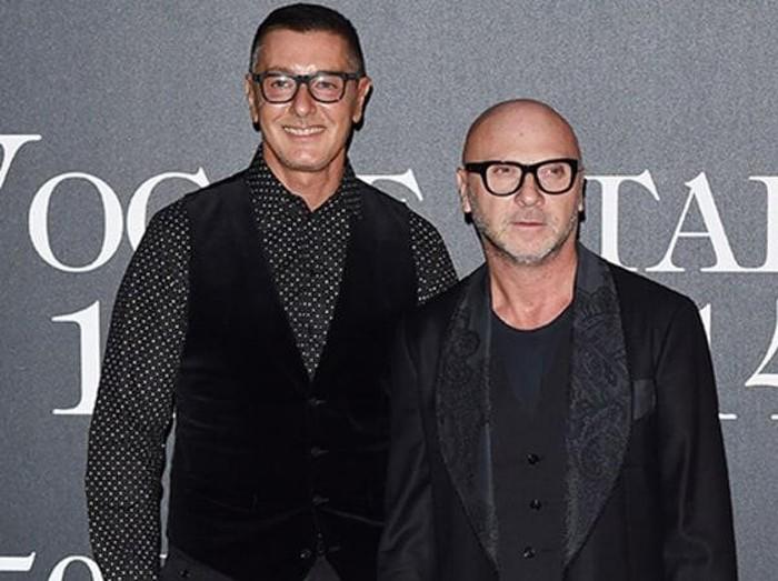 Duo desainer pendiri Dolce & Gabbana, Domenico Dolce and Stefano Gabbana. Foto: Dolce & Gabbana