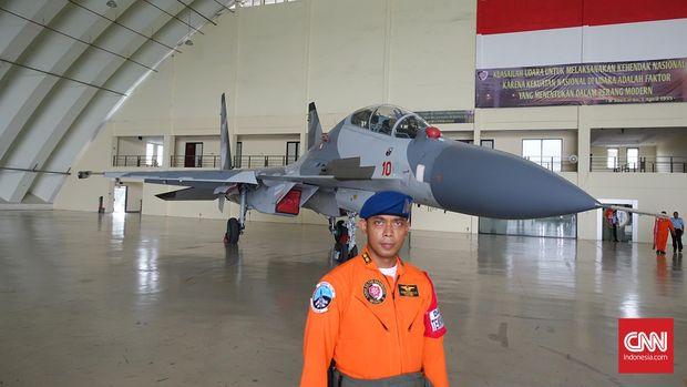 Jet tempur Sukhoi SU-30 Indonesia.