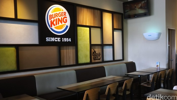 Restoran cepat saji asal amerika burger king. dikhy sasra/ilustrasi/detikfoto