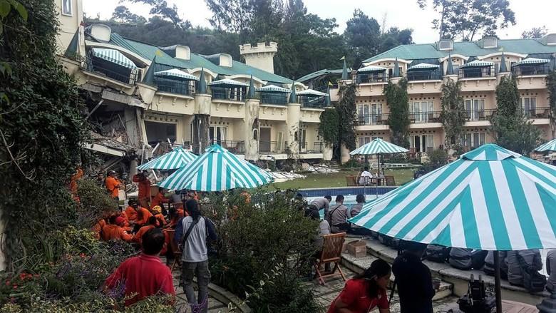 BPBD: 3 Korban Longsor di Hotel Club Bali Cianjur Dipastikan Meninggal