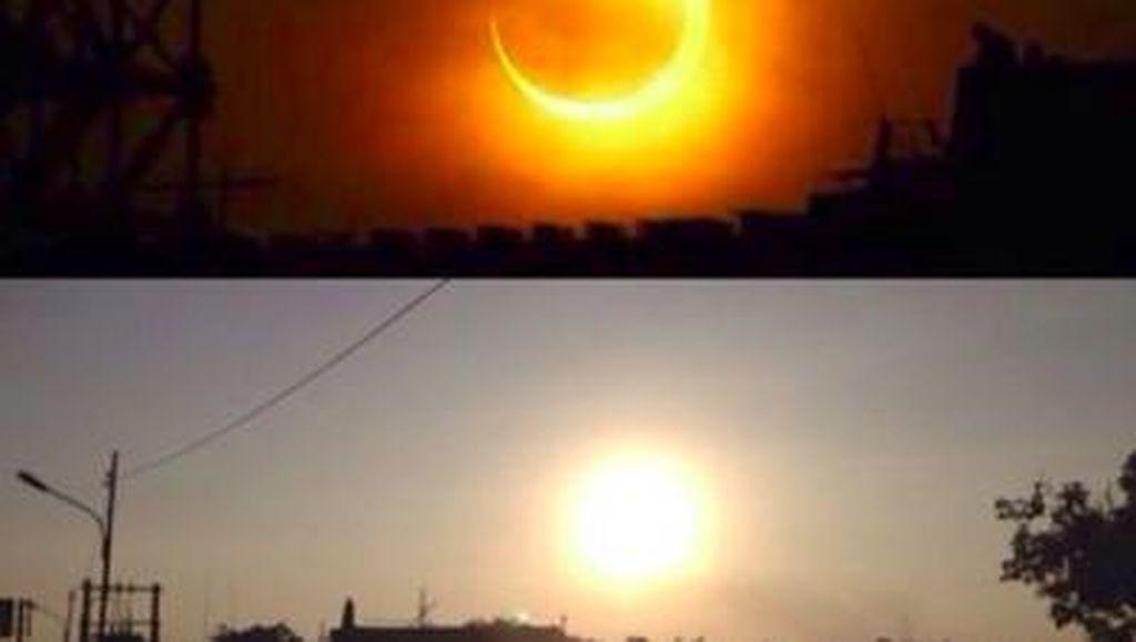 Netizen Asah Kreativitas Bikin Meme Gerhana Matahari