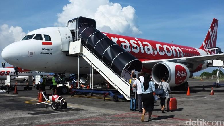 Foto: Pesawat AirAsia (Dikhy Sasra/detikcom)