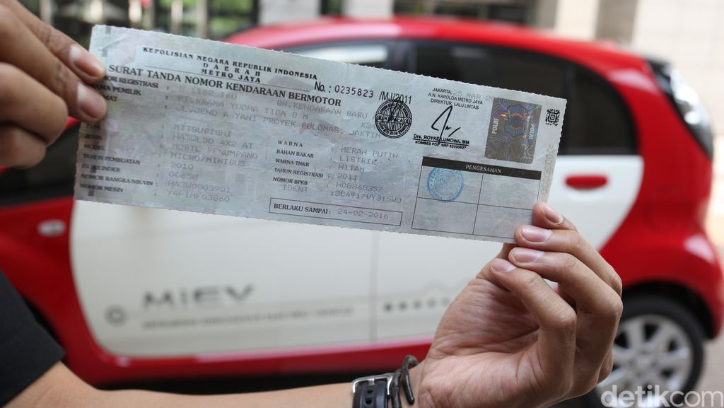 STNK Kendaraan Listrik di Jakarta Jumlahnya Sudah Ribuan
