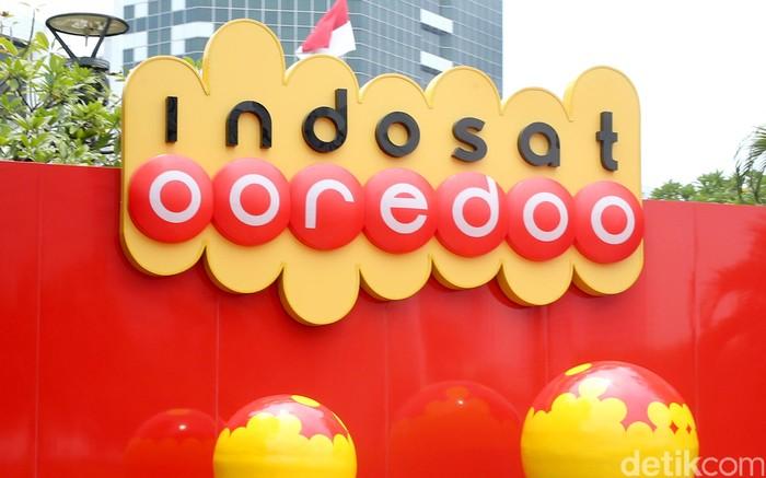 Logo Indosat Ooredoo. Foto: Ari Saputra