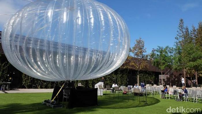 Balon internet Google Loon (detikINET/Ardhi Suryadhi)