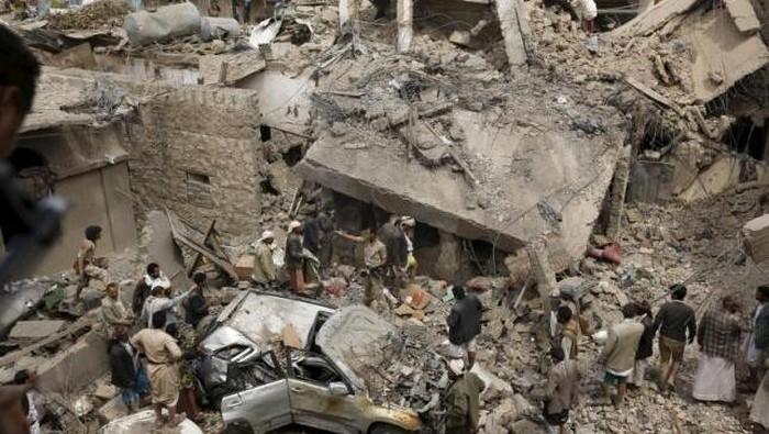 Ilustrasi serangan di Yaman