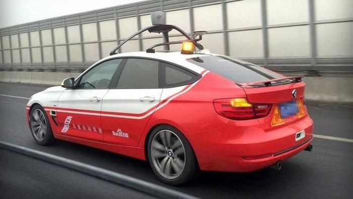 Mobil otonom Baidu dalam pengujian. Foto: Istimewa