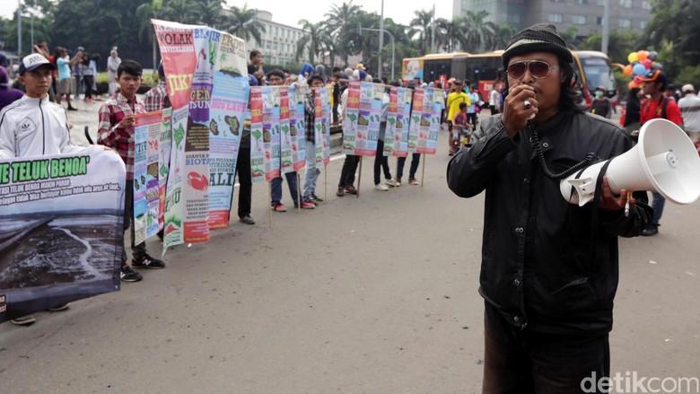 Aksi Dukung Reklamasi Teluk Benoa di CFD