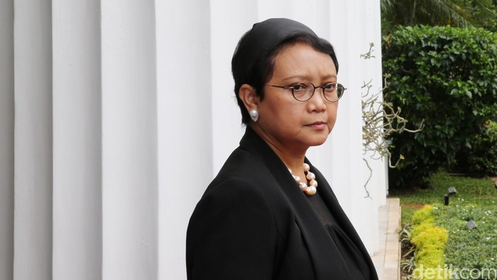 Menlu RI Retno LP Marsudi di Jakarta, Senin  (21/3/2016).