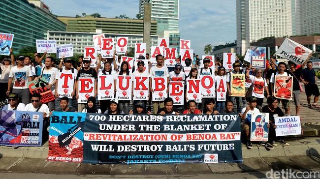 Demo reklamasi teluk Benoa Foto: Istimewa