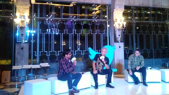 Soleh Solihun, Ganjar Pranowo dan Lukman Hakim Saifuddin (detikINET/Rachmatunnisa)