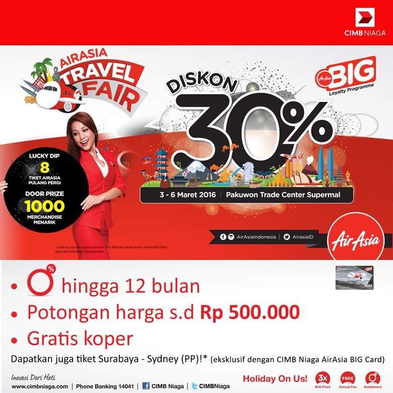Warga Medan, Ayo Mampir ke AirAsia Travel Fair