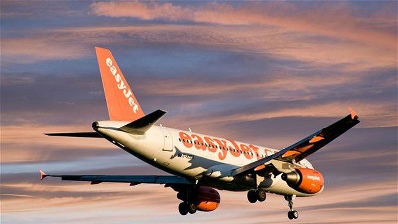 Pesawat easyJet (Dok. The Telegraph)