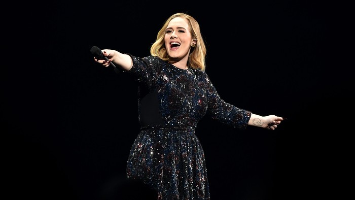 BIRMINGHAM, ENGLAND - MARCH 29:  Adele performs at Genting Arena on March 29, 2016 in Birmingham, England.  (Photo by Gareth Cattermole/Getty Images)