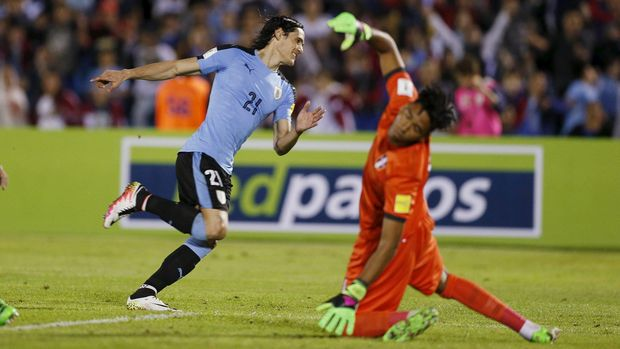 Edinson Cavani menjadi salah satu pemain andalan timnas Uruguay di Piala Dunia 2018.