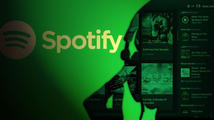 Ilustrasi Spotify. (Foto: Mindra Purnomo)
