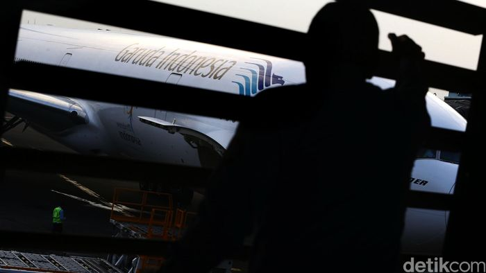 Pesawat Garuda Indonesia/Foto: Hasan Alhabshy
