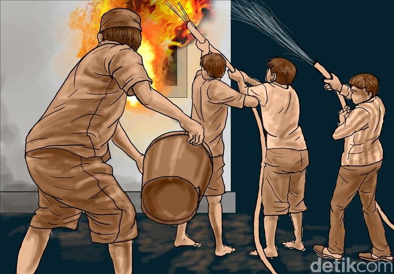 Kebakaran di Jatinegara Padam, 51 Rumah Hangus Terbakar