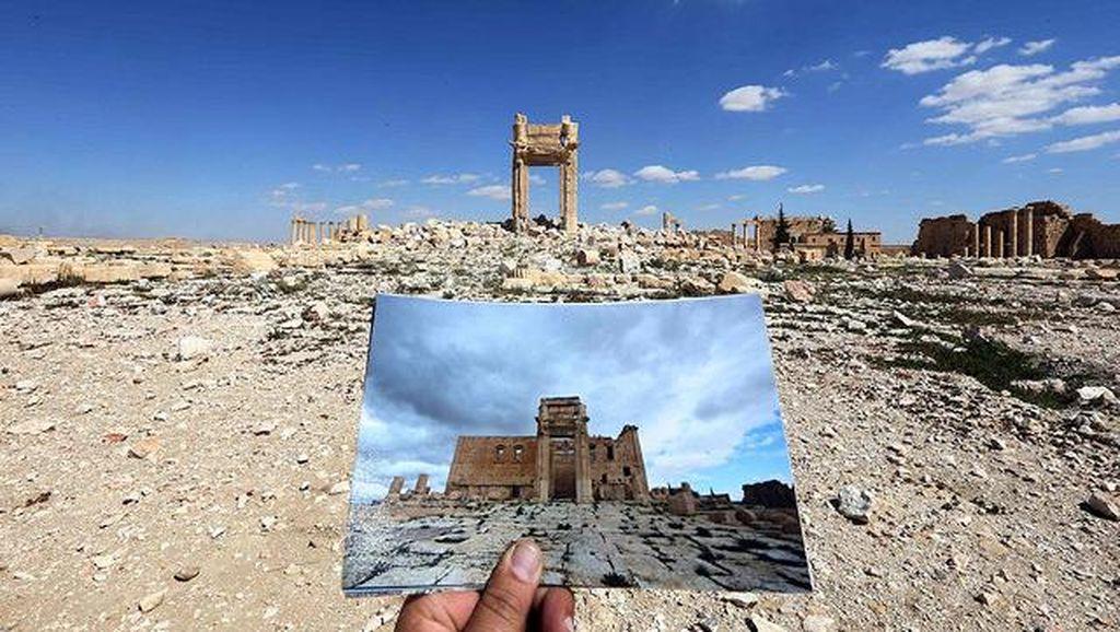 Ini adalah bangunan The Arch of Triumph, monumen yang dibangun sekitar 2000 tahun yang lalu. Foto: Joseph Eid