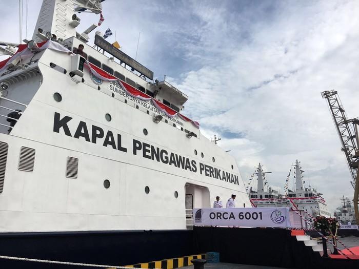 Kapal SKIPI bernama Orca yang pengadaannya diduga terselubung korupsi. (Dok. detikcom)