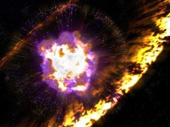 Supernova (ledakan bintang terbesar) kemungkinan meningkatkan sinar kosmik yang masuk ke Bumi sebanyak 15%. (Foto: Greg Stewart SLAC National Accelerator Laboratory) (Credit: ABC licensed)