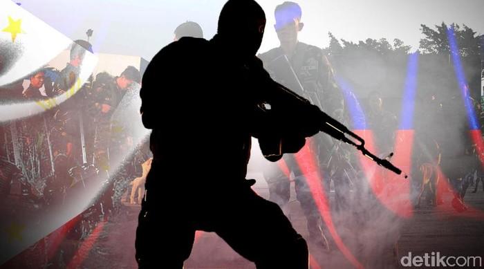 Ilustrasi Tentara Filipina-Abu Sayyaf