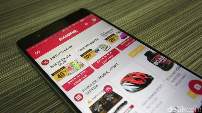 Aplikasi BukaLapak. Foto: detikINET/Irna Prihandini