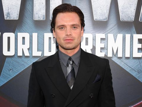 HOLLYWOOD, CALIFORNIA - APRIL 12:  Actor Sebastian Stan attends The World Premiere of Marvel's