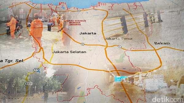 Ciliwung Meluap, Sejumlah Kawasan di Jaksel dan Jaktim Banjir