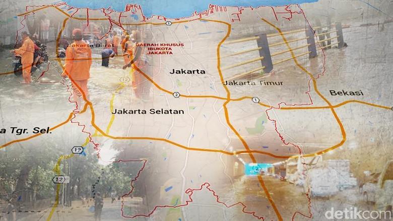Data Lokasi di Jakarta yang Masih Tergenang Banjir hingga Pagi Tadi