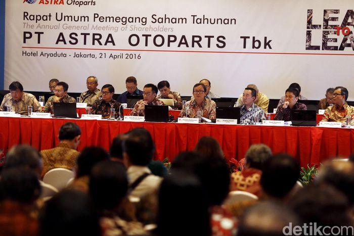 Astra Otoparts menggelar Rapat Umum Pemegang Saham Tahunan (RUPST) di Jakarta.