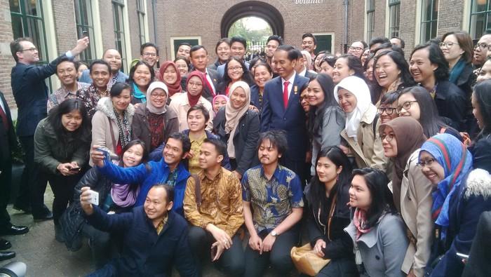 Presiden Jokowi di Universitas Leiden Belanda