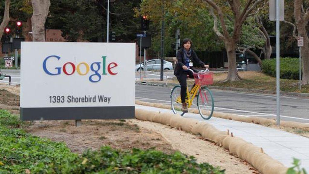 Awalnya mesin pencari ciptaan Larry Page dan Sergey Brin bernama Back Rub. Tapi nama mereka tidak puas, munculah nama Google. Nama itu berasal dari salah ketik googol, sebuah notasi desimal, di mana angka 1 yang diikuti dengan ratusan angka nol. Pemilihan kata googol dimaksudkan memberikan hasil pencarian yang hampir tidak terbatas. Foto: GettyImages/Peter Macdiarmid