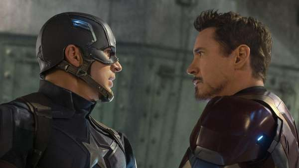 Pertarungan Tim Captain America vs Tim Iron Man di Civil War