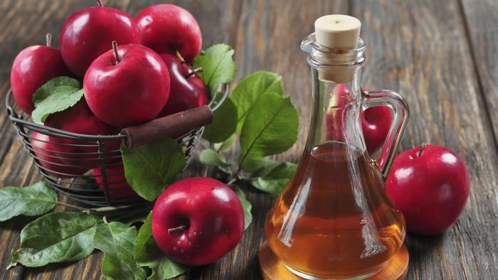 Cuka apel bisa dipakai menghilangkan bau mulut. (Foto: Thinkstock)