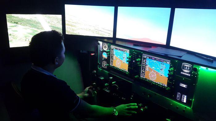 Ilustrasi simulator pesawat/Foto: Putri Akmal/detikcom