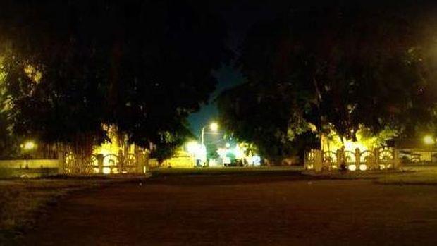 Pohon beringin kembar di Alun-alun Kidul