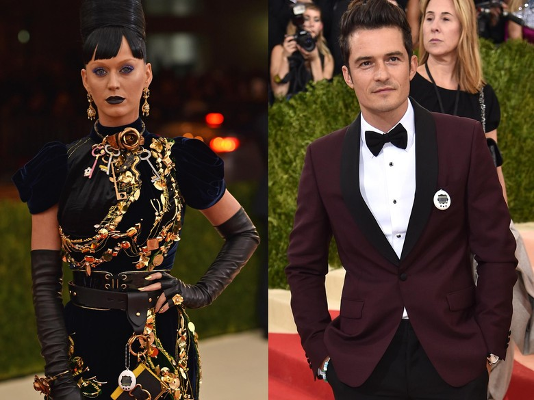 Foto: Katy Perry dan Orlando Bloom (Dimitrios Kambouris/Getty Images)
