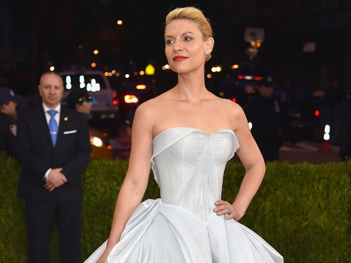NEW YORK, NY - MAY 02:  Actress Claire Danes attends the Manus x Machina: Fashion In An Age Of Technology Costume Institute Gala at Metropolitan Museum of Art on May 2, 2016 in New York City.  (Photo by Dimitrios Kambouris/Getty Images)