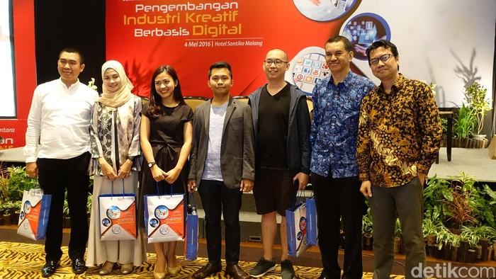 Para pembicara di seminar Pengembangan Industri Kreatif Berbasis Digital. Foto: detikINET/M. Alif Goenawan