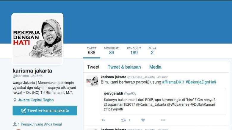 Muncul Akun Twitter Pendukung Risma Jadi Cagub DKI