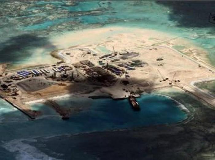 Foto: Saat reklamasi pulau buatan di kawasan Scarborough rampung, China akan memiliki kontrol penuh atas wilayah Laut China Selatan yang dipersengketakan.