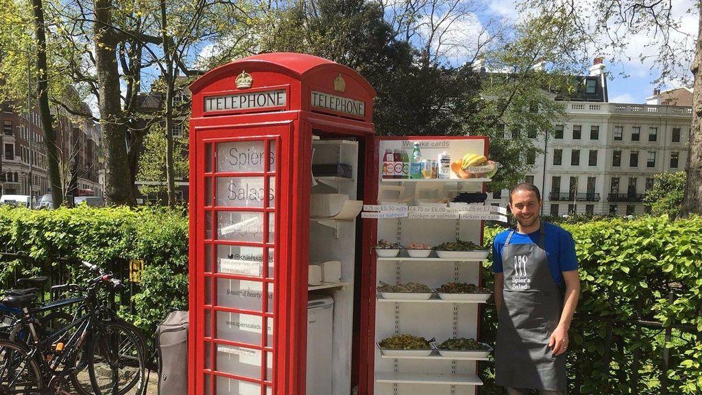 Boks Telepon Merah di Inggris Ini Diubah Jadi Toko Salad